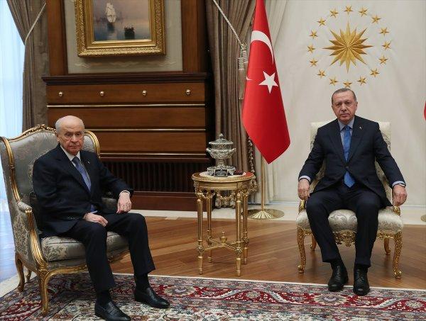 Erdoğan ve Bahçeli'den ittifak buluşması