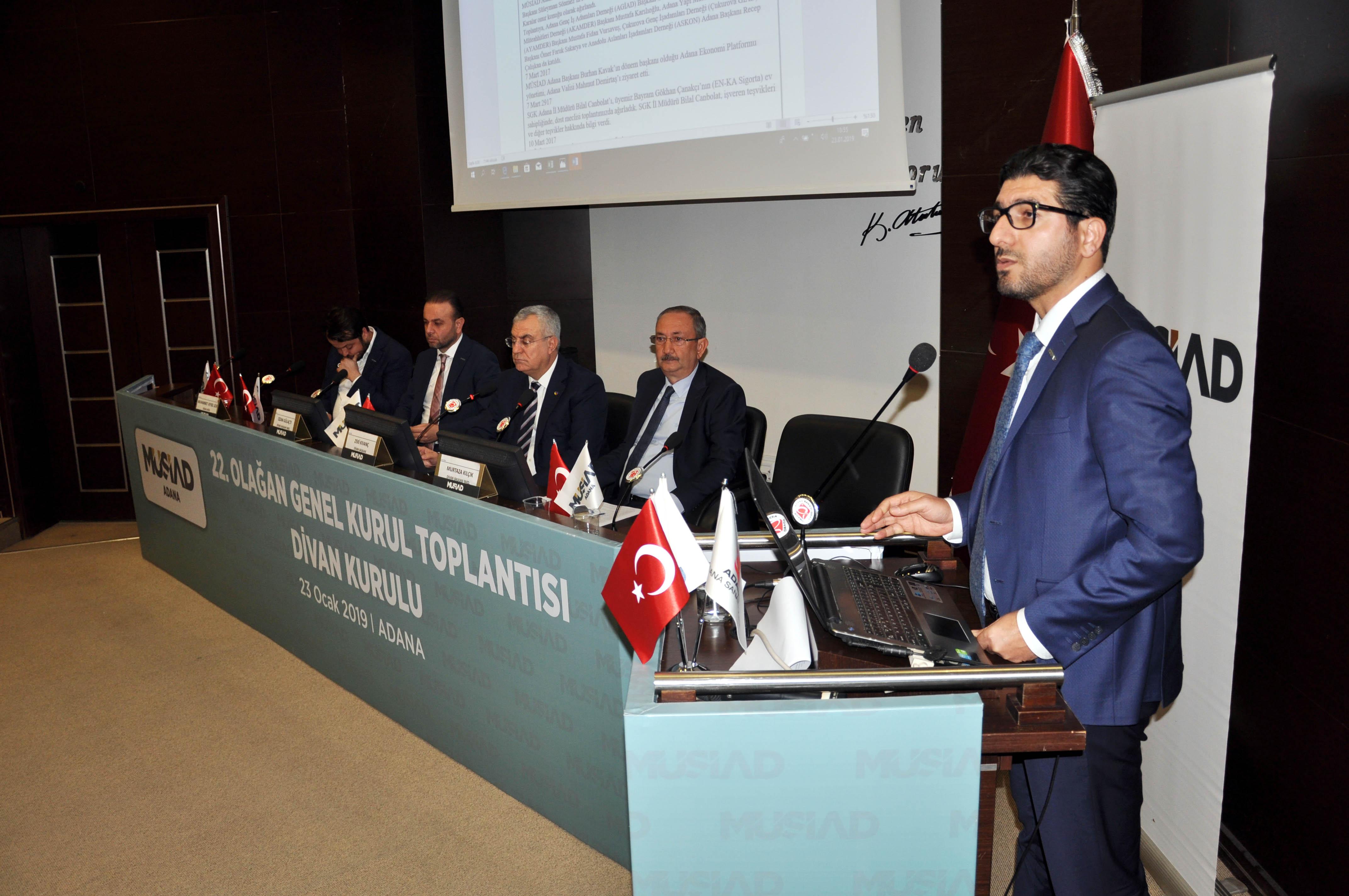 MÜSİAD Adana bir kez daha 'Burhan Kavak' dedi