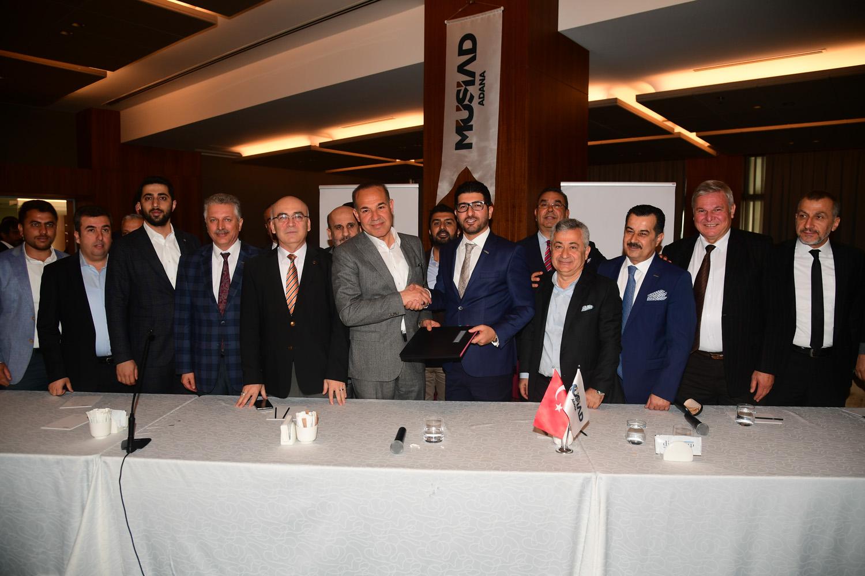 Başkan Sözlü ADANAGİAD ve MÜSİAD ile protokol imzaladı