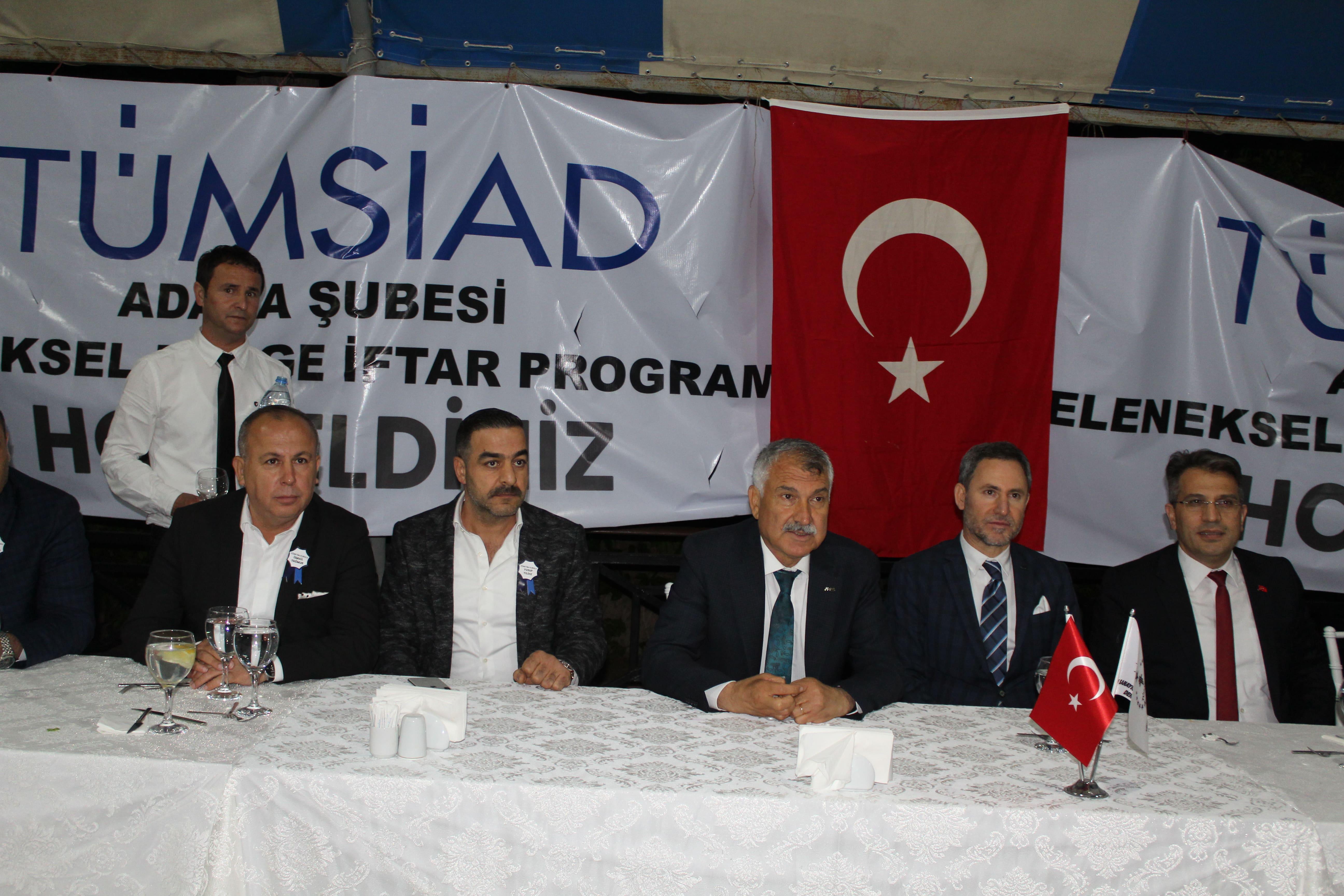 TÜMSİAD Adana'da iftar yemeğinde buluştu